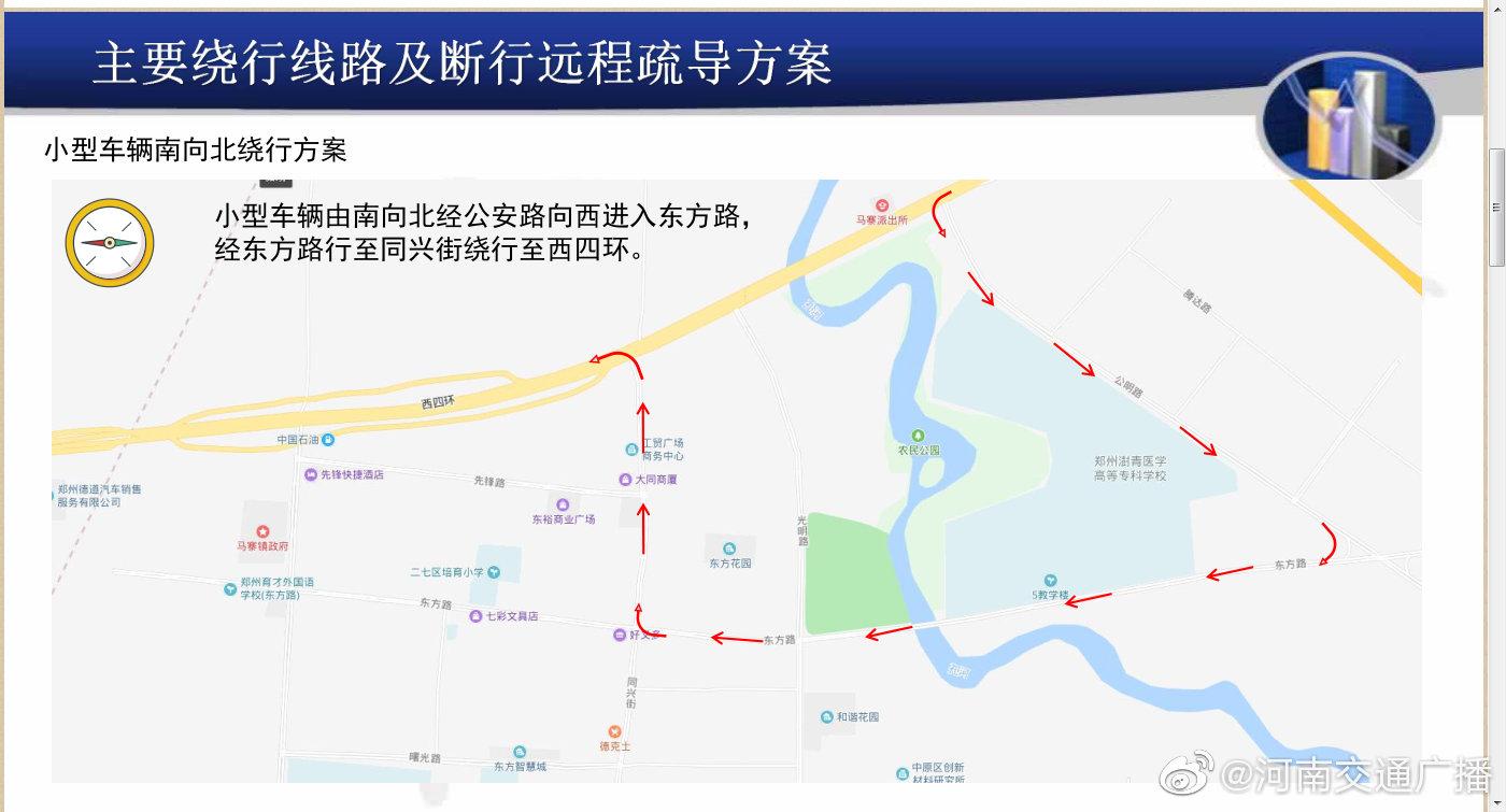 本月10日零时起  郑州西四环孔河桥将封闭施工断行  车辆和行人需绕行
