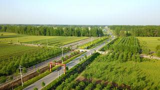 """河南柘城:农村公路通了  农民""""心路""""畅了"""