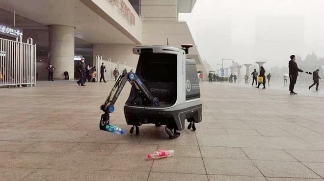 全国首例城市管养机器人