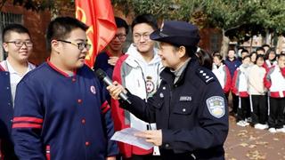 许昌魏都警方开展反恐防暴宣传进校园活动