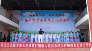 汝州市文艺志愿者助力首届蚕桑文化旅游节