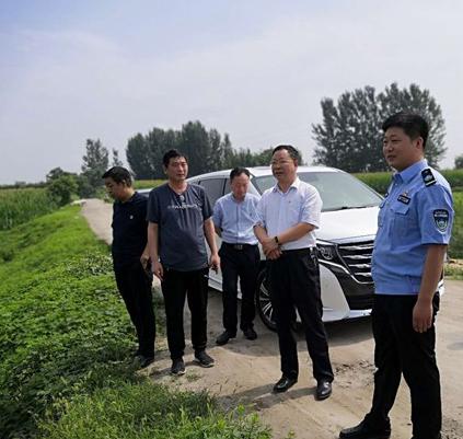 禹州市防汛抗旱应急指挥部领导调研地灾防治工作