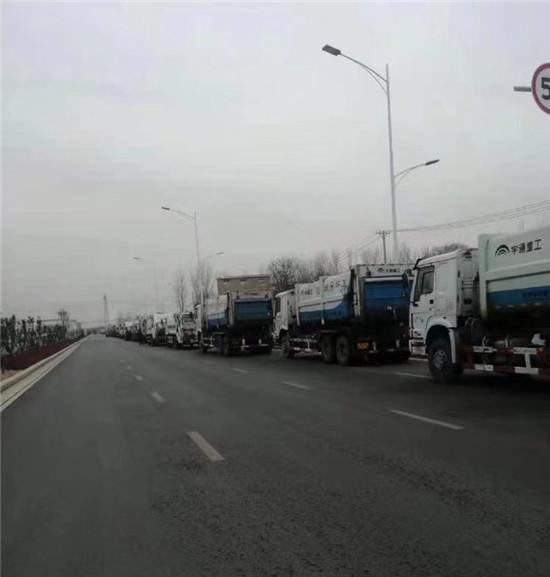 郑州市管城回族区冒严寒打硬仗 想方设法抢运辖区生活垃圾