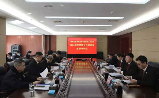 郑州航空港实验区法院召开2020年党建工作责任制述职评议会