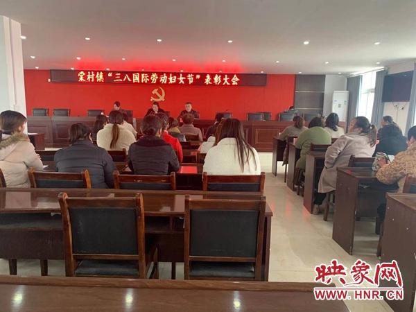 """新蔡县棠村镇召开""""三八""""国际妇女劳动节表彰大会"""