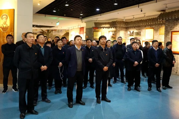 新蔡县党政领导赴竹沟开展红色教育活动