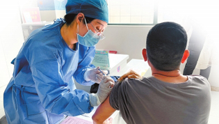 全省近三百万人接种新冠疫苗