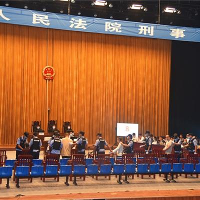 浚县人民法院法警大队完成一起涉恶案庭审保障任务