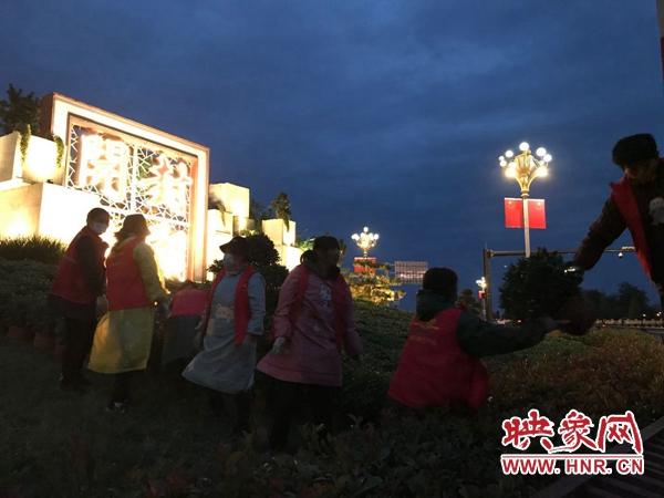 菊花文化节开幕在即 开封市高标准推进菊花大环境布展工作