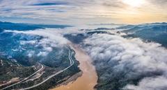 黄河岸边云海涌
