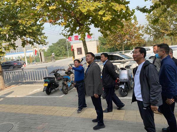 """郑州市城市管理局领导到枫杨办事处督导""""双改""""工作"""