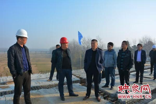 固始公路局对G328项目工程建设进行现场观摩