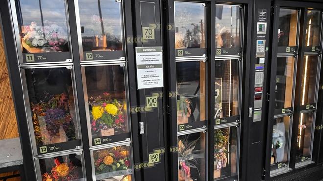 波兰推出花卉自动售卖机
