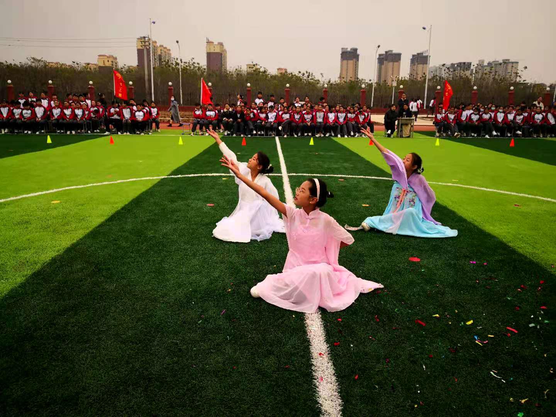 鲁山县汇源中学举行广播体操比赛活动