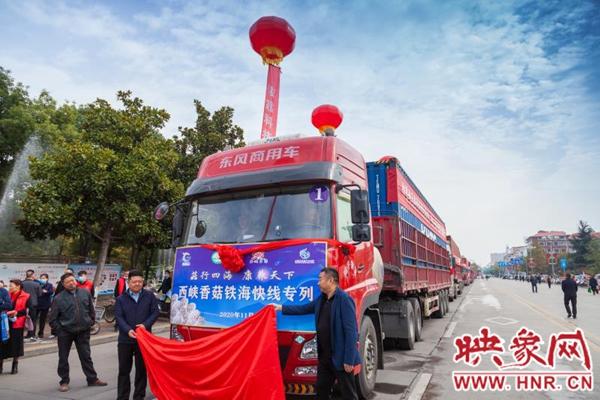 南阳西峡香菇铁海快线专列开启 降低企业物流成本