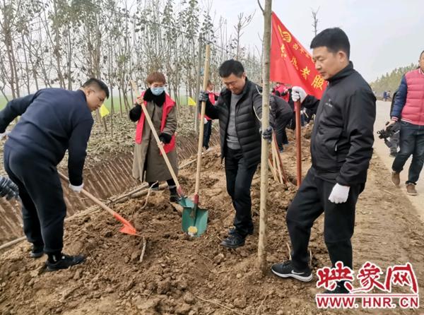 西平县五沟营镇开展今冬明春国土绿化行动