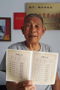 84岁赵水木老人捐赠牛奶致敬抗疫英雄