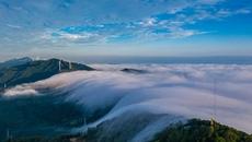 河南三门峡:云海翻腾风车舞