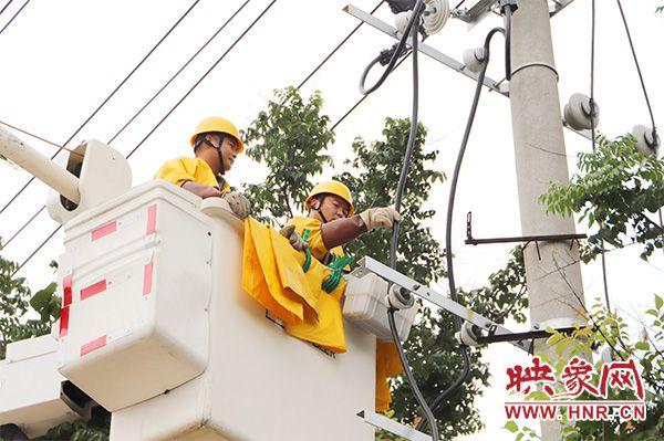 民权县供电公司:解决低电压 度夏保清凉
