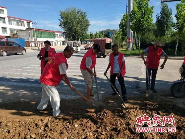 西平县小王庄村:党员干部义务劳动 提升优化人居环境