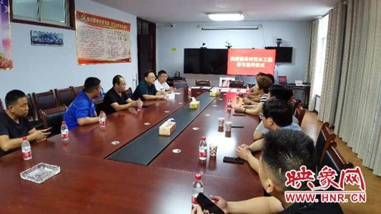 舞钢市尚店镇举行单村饮水工程交接仪式