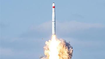 """一箭九星!我国在黄海海域成功发射""""吉林一号""""高分03-1组卫星"""