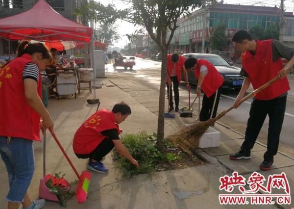 西平县五沟营镇:红色马甲进街道 文明共建暖人心