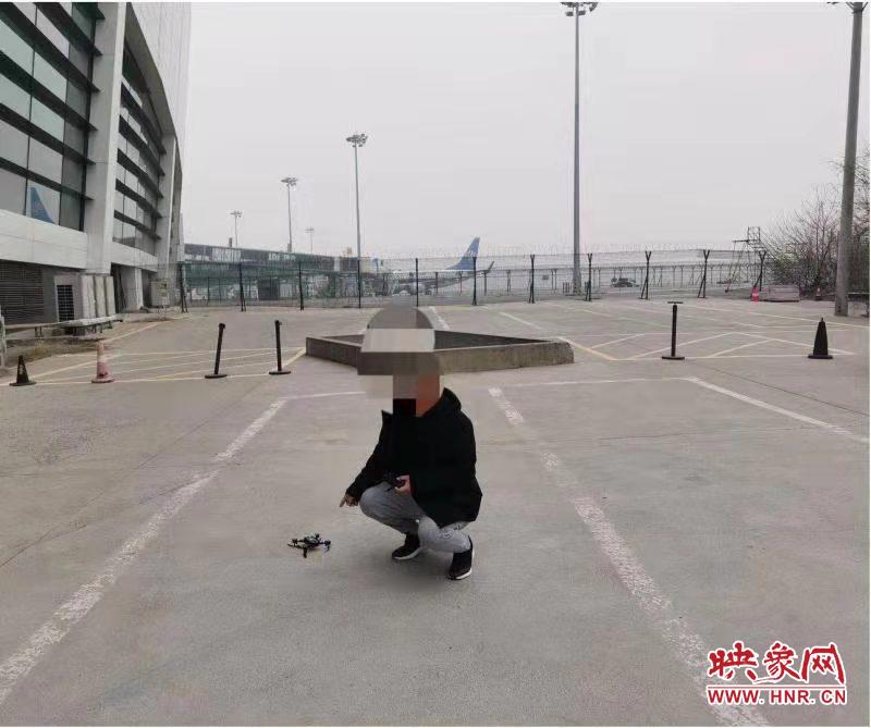 男子在郑州机场的净空保护区域试飞无人机 被警方处罚200元