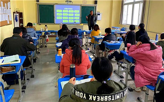 郑州市教研员走进102高级中学 助教师精心磨课促发展