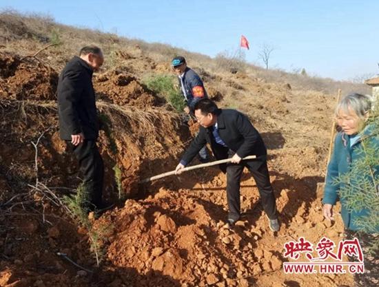 偃师市大口镇铁村铁窑自然村开展春季荒山绿化活动