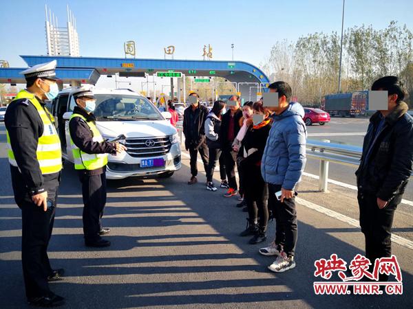 河南高速交警持续对拼车包车超员载客违法持续保持严管高压态势