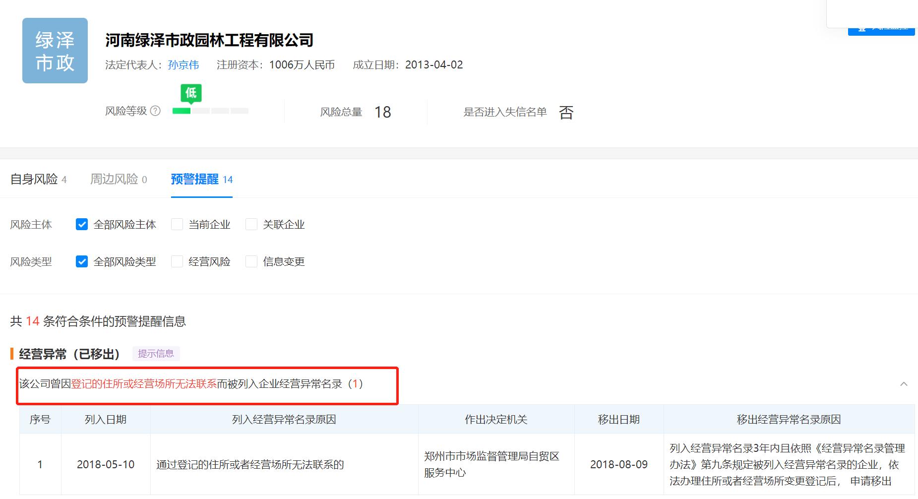 """""""郑州5000万元的绿化工程质量遭质疑""""续:中标单位曾被列入企业经营异常名录"""