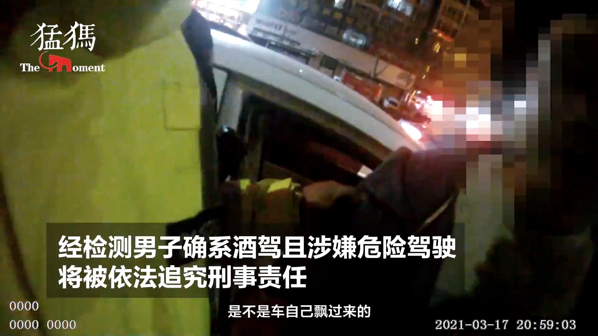 男子酒駕怕被罰等紅燈時換座