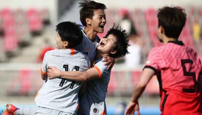 奥预赛中国女足2:1险胜韩国