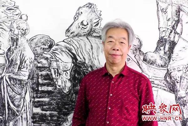 洛阳:国画巨幅长卷献礼建党100周年