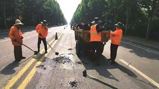 襄城县公路事业发展中心强化夏季公路养护工作