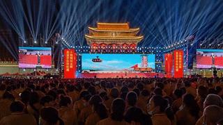 """临颍县南街村举办庆祝建党100周年""""永远跟党走""""大型文艺晚会"""