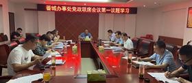 固始县番城办事处组织召开党政联席会议