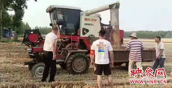 尉氏县大桥乡万余亩小麦夏收工作顺利进行