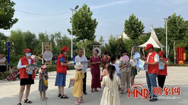 周口丁集镇:谷河两岸党旗红 志愿服务暖人心