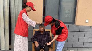 项城市丁集镇:谷河两岸党旗红 志愿服务暖人心