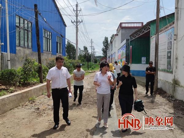 河南省生态环境厅到汝南县王岗镇进行调研