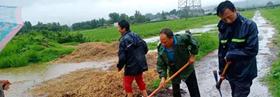 宝丰县李庄乡:党旗在防汛一线上空高高飘扬