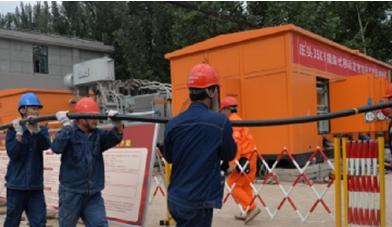 河南省首座抗洪救灾变电站在尉氏县正式启用