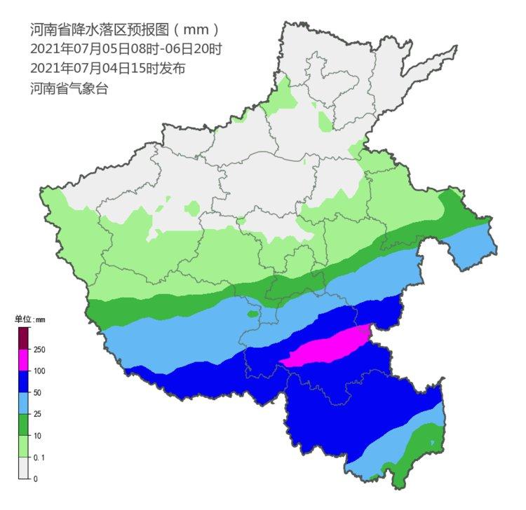 5到8日河南中南部进入降水集中时段 局部大暴雨