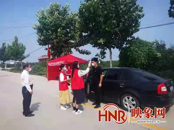 """虞城刘杨庄村:""""红马甲""""志愿者助力疫情防控"""