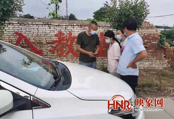 """通许县厉庄乡:扫""""三码"""" 筑牢疫情防控底线"""