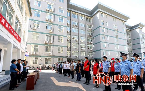 驻马店:泌阳县电动车挂牌编码启动仪式在花园街道举行