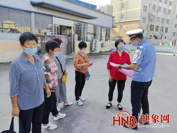 """商丘警方深入企业开展交通安全""""七进""""宣传活动"""