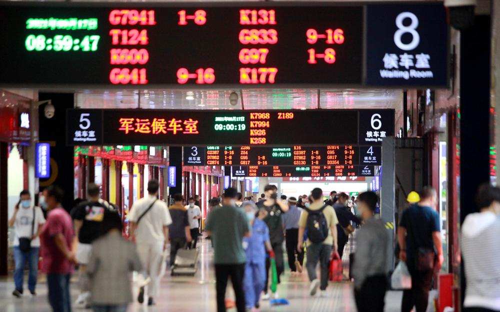 国内跨省游放开中秋小长假郑州铁路计划加开列车17.5对
